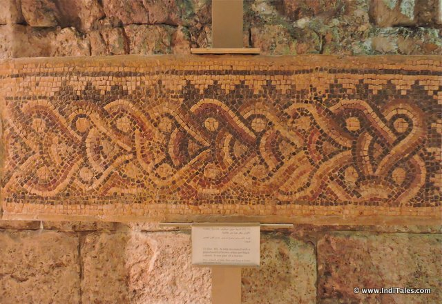 Mosaic patterns at Jordan Museum of Popular traditions