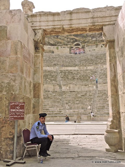 Entrance to Roman theater at Amman, Jordan