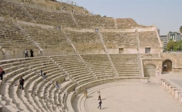 Amman Roman Theater Side View