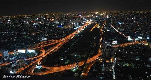 Bangkok at Night View from 84th floor of Baiyoke Sky Hotel