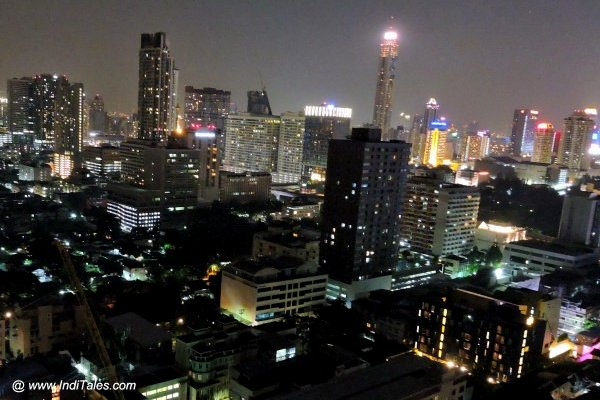 Bangkok at Night from 22nd floor