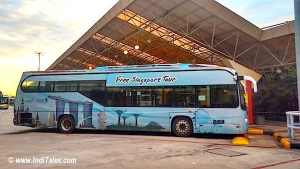 Free Singapore Tour Bus at Changi Airport, Singapore