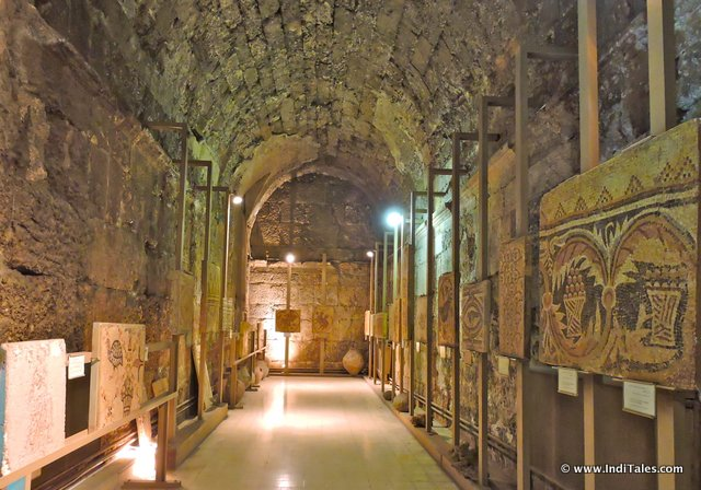 Vaulted room with mosaic displays at Jordan Museum of Popular Traditions, Amman