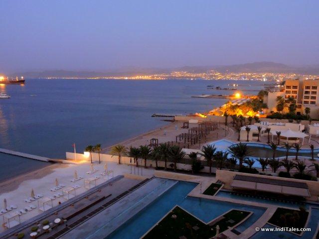 Evening lights from Kempinski Hotel