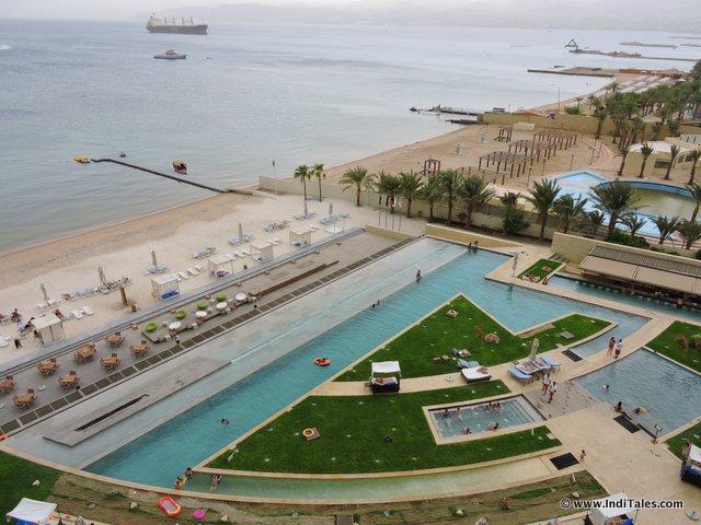Swimming Pool of Kempinski Hotel Aqaba, Jordan