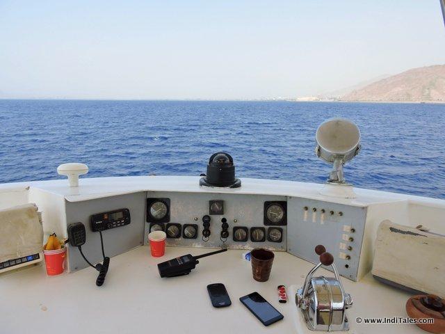Cruising in Red Sea at Aqaba Jordan