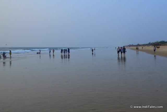 Dusk at Candolim beach