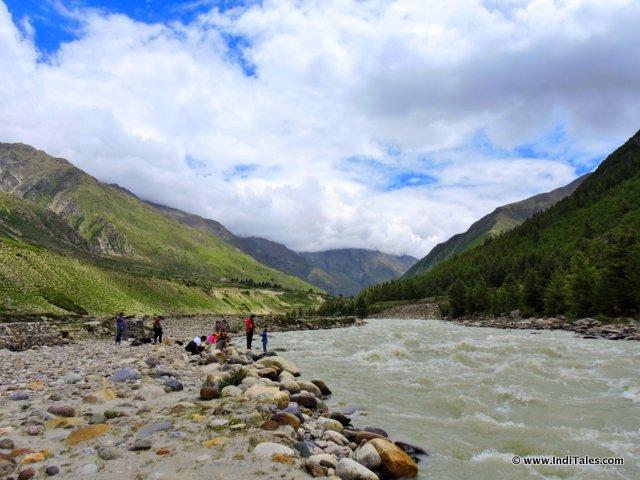 River Baspa at Chitkul, Sangla Valley, Himachal