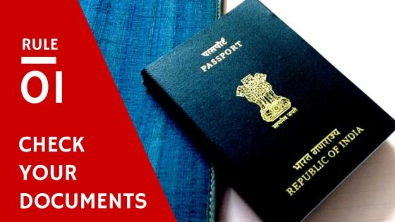 Travel Checklist - Documents