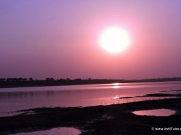 Sunset at Chambal River