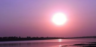 Sunset at Chambal River