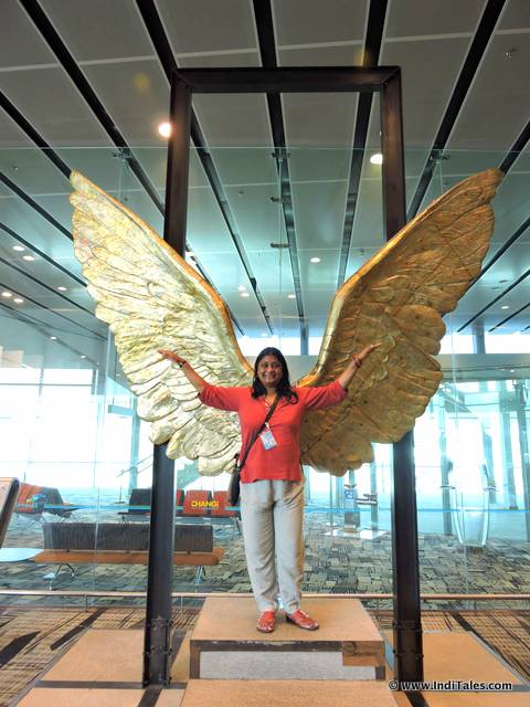 Wings of mexico sculpture at Changi Airport, Singapore, Art Trail at Changi