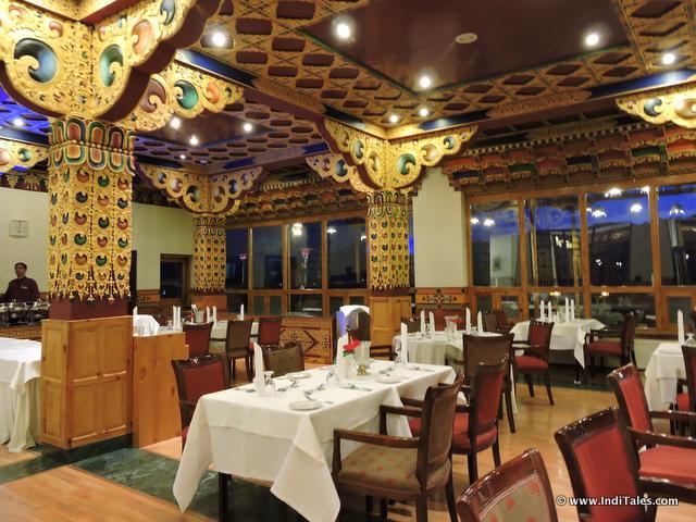 Dining Area of The Grand Dragon Hotel, Ladakh