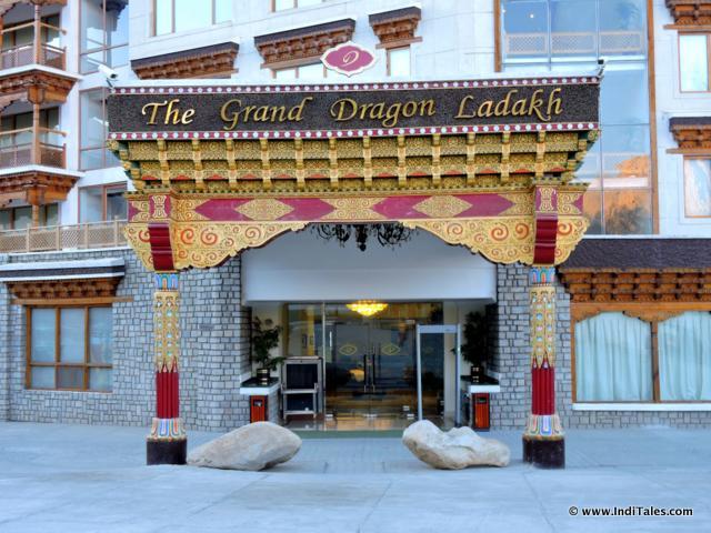 The Grand Dragon Hotel, Ladakh Entrance