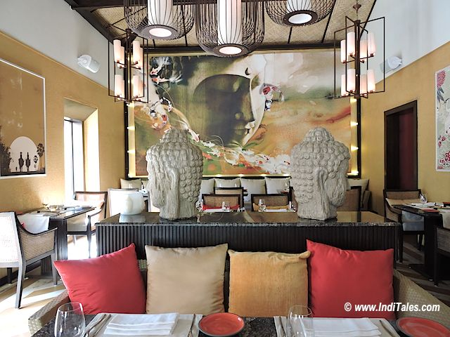 Buddha inspired Decor of Koi, Calangute, Goa Restaurants