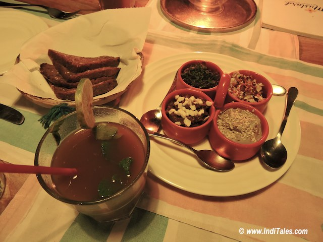 Tamarind Drink, starters at Mustard, Goa Restaurants