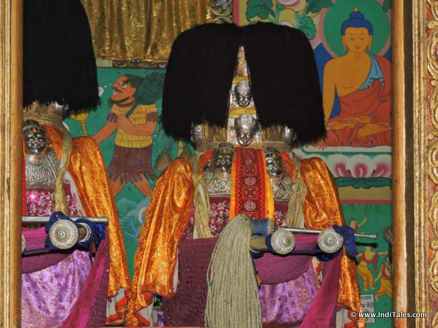 Idol at Badri Vishal Temple, Basteri, Sangla Valley, Himachal Pradesh