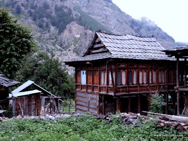 Elegant wooden houses of Sangla Valley, Himachal Pradesh