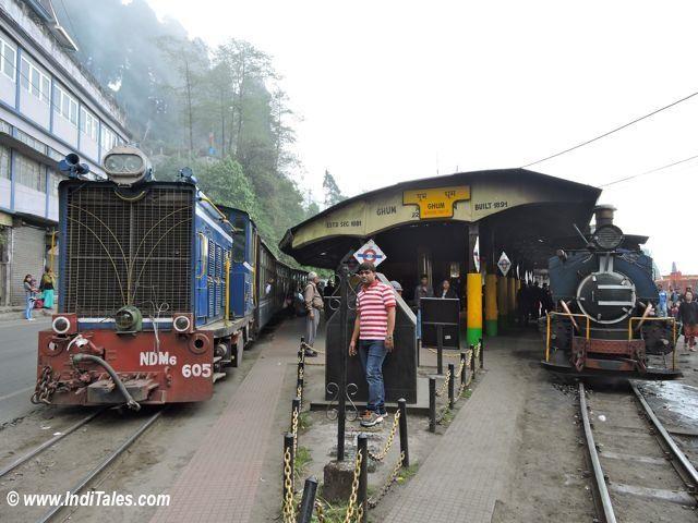 Steam & Diesel Trains at Ghum Station