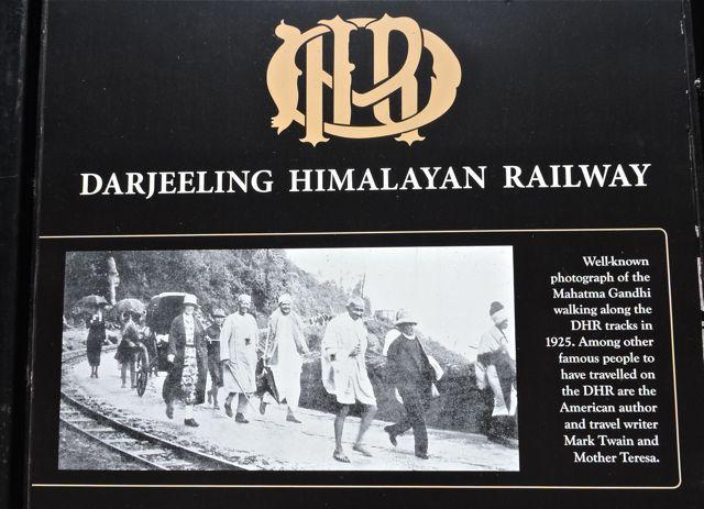 Gandhi ji at Darjeeling Station