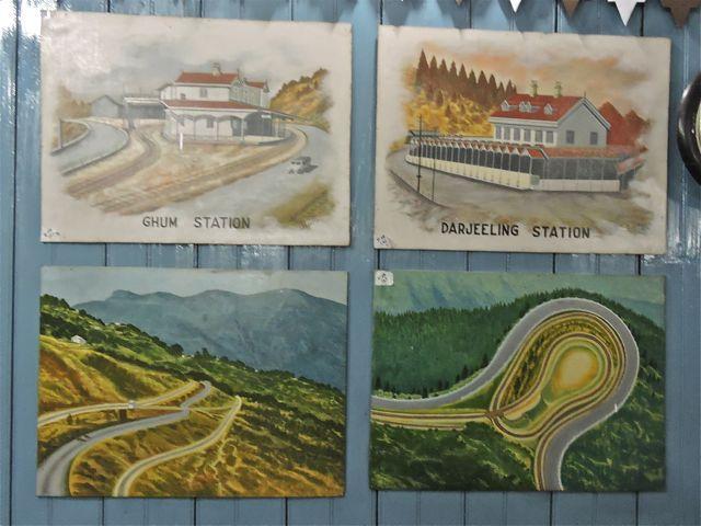 Paintings of Darjeeling Himalayan Railway at Ghum Museum