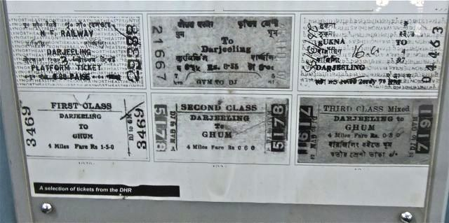 Old Tickets issued by Darjeeling Himalayan Railway