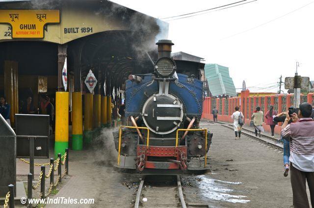 Train at Ghum Station