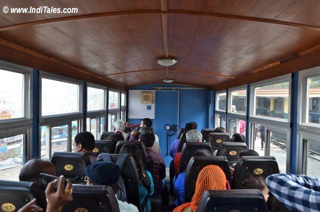Inside the coach of Darjeeling Himalayan Railway