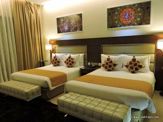 Twin double bedroom at The Deltin Daman