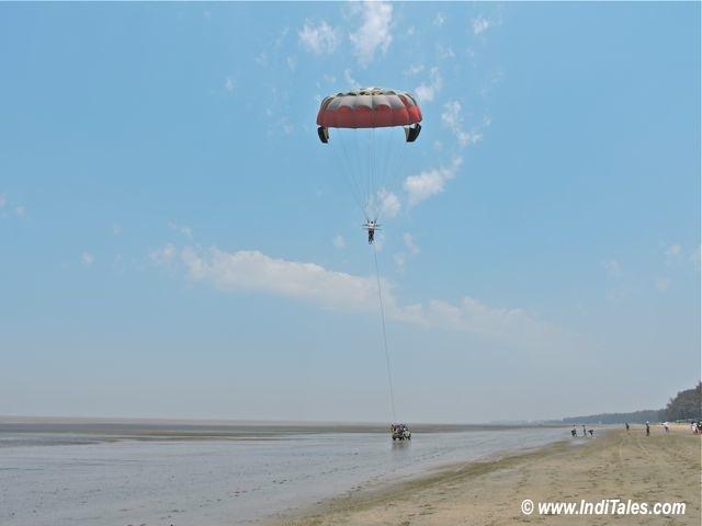 Parasailing at Jampore Beach, Daman