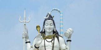 Towering statue of Lord Shiva at Chardham, Nmachi, Sikkim