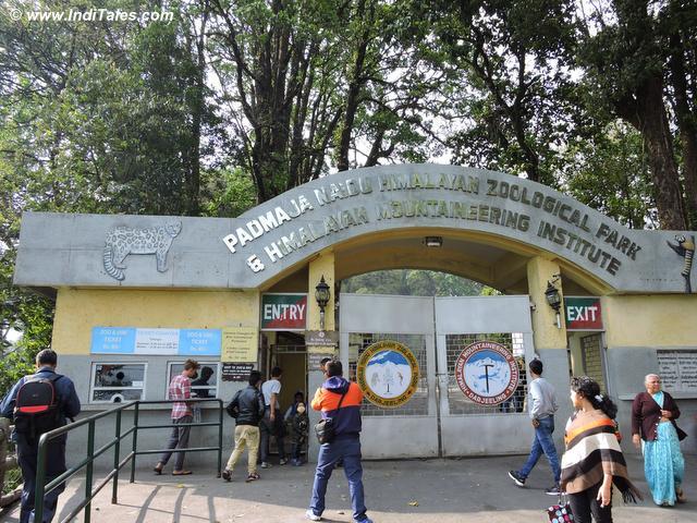 Entrance to the Padmaja Naidu Himalayan Zoological Park in Darjeeling