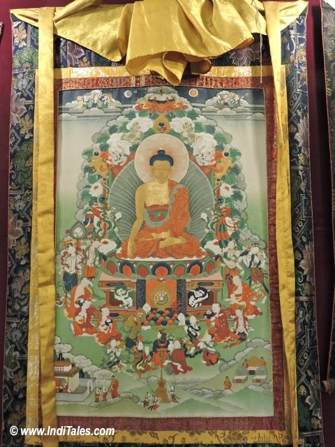 Buddha Thangka Painting as Sikkim Souvenirs
