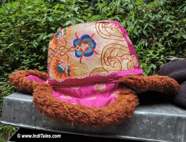 Sikkimese cap or traditional headgear as Sikkim Souvenirs