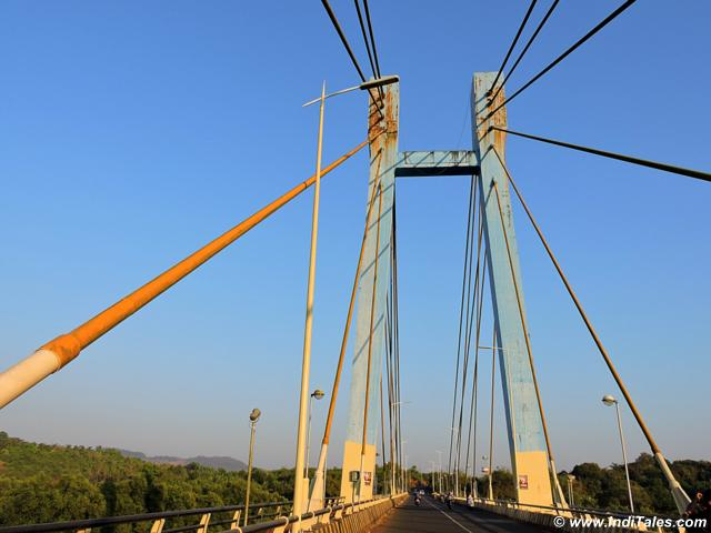 Cable bridge at Aldona Goa
