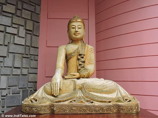 Buddha sculpture in Balinese style at Mayfair Gangtok