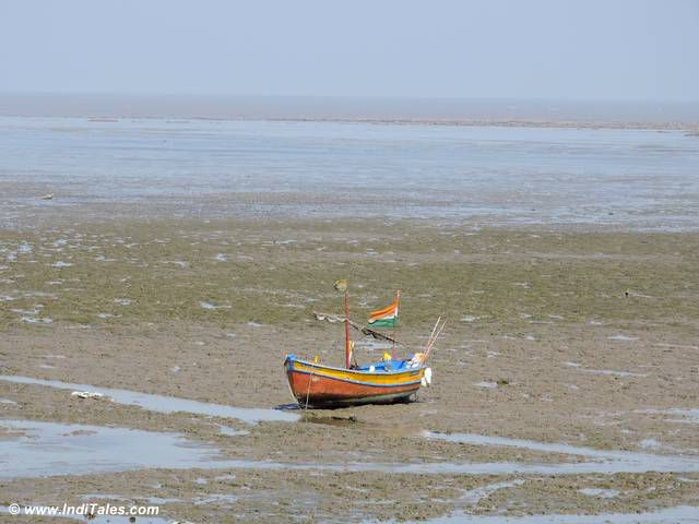 Boat on a beach in Daman