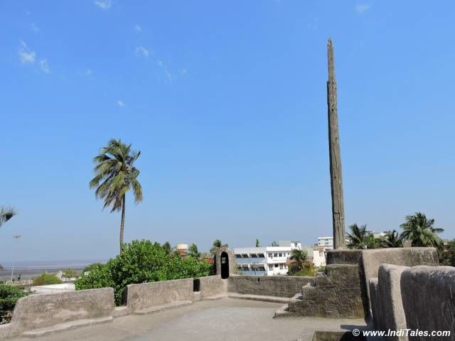 Flag post at Saint Jerome Fort, Daman