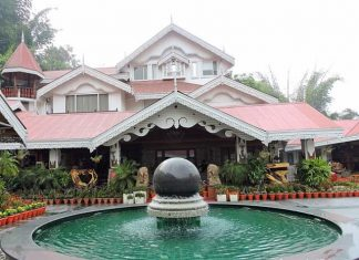 Revolving Globe Fountain at Mayfair Gangtok
