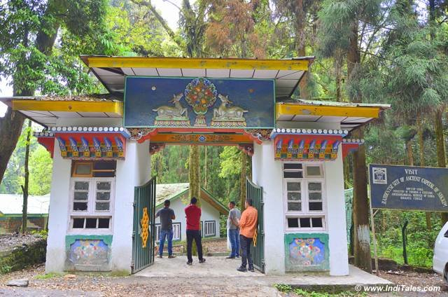 Rabdentse ruins entrance gate at Pelling Sikkim