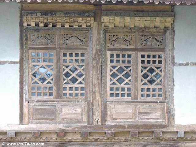 Woodwork window at Pemayangtse monastery Pelling