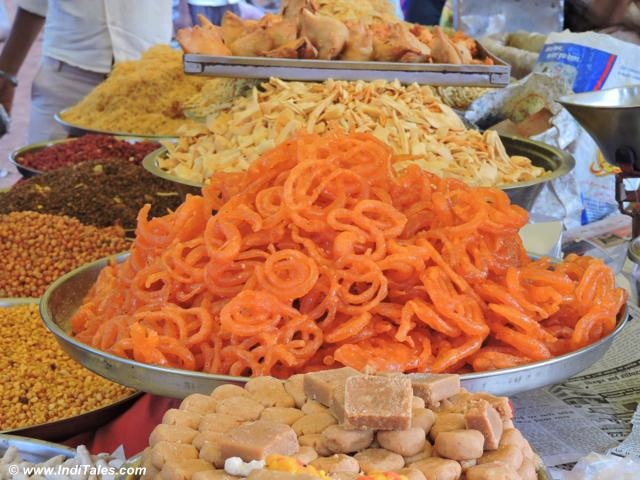 Colorful street food at Indian Village in MP