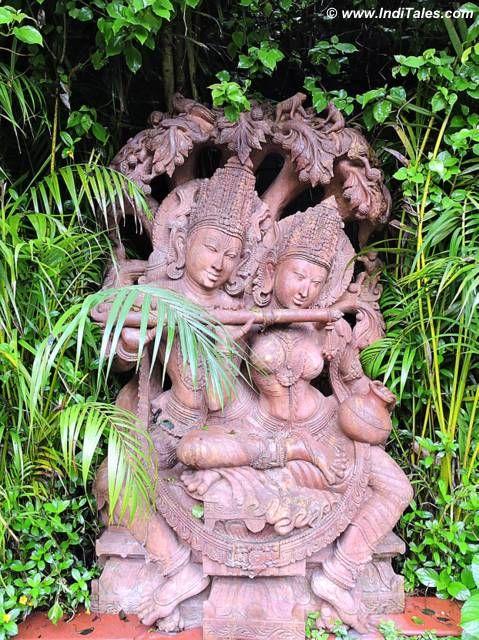 Radha Krishna stone sculpture at Mayfair Gangtok