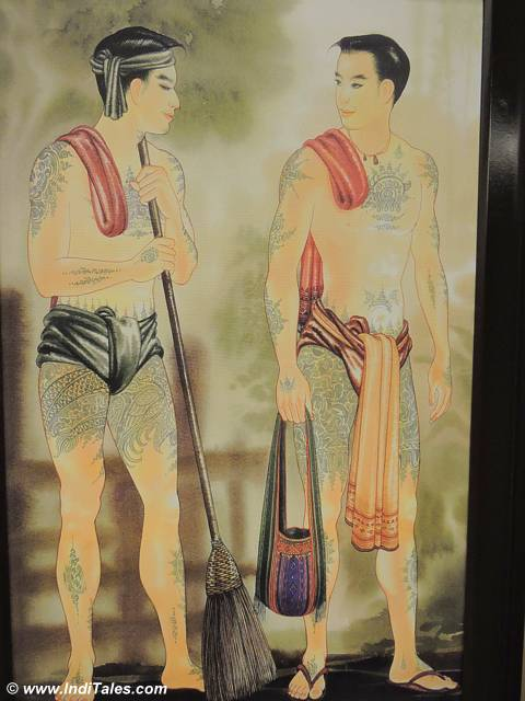 Tattooed Tribals of Sikkim painting at Mayfair Gangtok