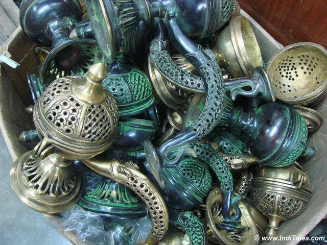 Brassware in Old Delhi Bazaars