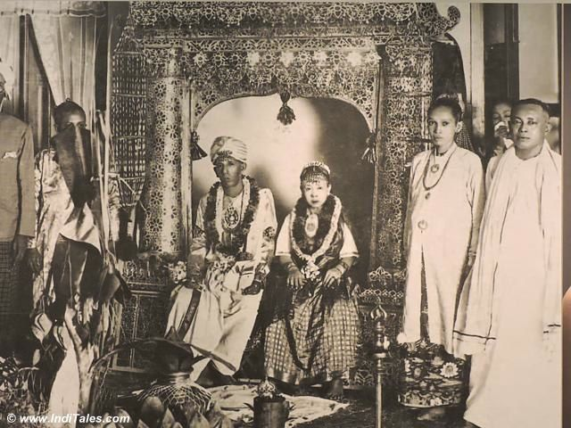 An vintage Peranakan Wedding picture, Peranakan Museum, Singapore