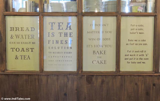 Quotes on Tea & Baking at Landour Bakehouse