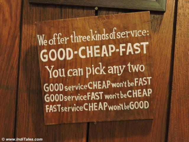 Good Fast Cheap at Clock Tower Cafe, Landour Bazaar