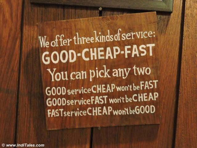 Good Fast Cheap at Clock Tower Cafe, Landour Bazaar
