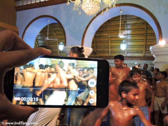 Dance inside the Devaki Krishna Temple , chikal kalo goa